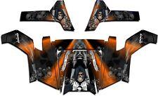 Polaris RZR 800 UTV Graphics Decal Wrap 2011 - 2014 Grim Reaper Revenge Orange