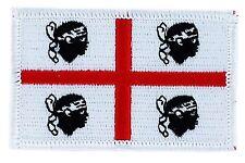 Toppe Toppa PATCH SARDEGNA 7x4,5cm Bandiera banderina ricamata termoadesivo