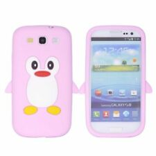 Samsung Galaxy S3 Soft Silikon Case Cute 3D Pinguin Form Schutz Hülle Cover Pink