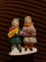 LEMAX Boy and Girl holding gifts Figurine Christmas