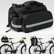 Cycling Bike Bicycle Rear Seat Bag Rack Trunk Storage Shoulder Handbag w/ Cover