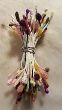 85pcs mixed bundle of flower stamens.  All but a couple are double ended.