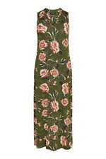Evans Khaki Floral Print Maxi  Dress - BNWT - Plus Size 26/28