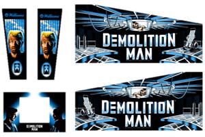 Demolition Man Pinball Machine CABINET Decal Set