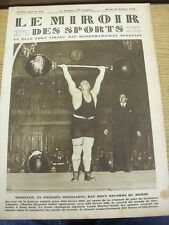 30/10/1928 Le Miroir Des Sports Magazine: Number: 454, Content To Include, Club