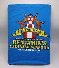 Benjamins Calabash Seafood Restaurant Tshirt Myrtle Beach SC Blue XL