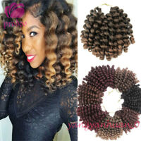 "8"" Afro Jumpy Wand Curl Crochet Braids Synthetic Jamaican Bounce Curly Hair Weft"