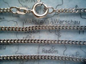 Fußkette Weißgold 585 Länge 24,5 cm x 1,8 mm, Fußkette Panzer Weißgold 24,5 cm