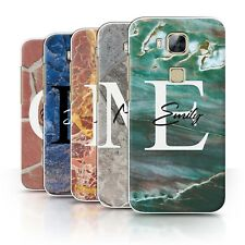 Personalised Custom Marble Stone Fashion Phone Case for Huawei G8/Initial Cover