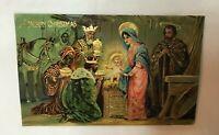 *Vintage Christmas Postcard A MERRY CHRISTMAS Nativity Scene