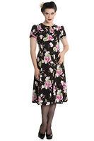 Hell Bunny Freya 40s 50s Floral Dress Tea Party Rockabilly Retro Vintage Style