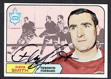 Floyd Smith #130 signed autograph auto 1968 Topps Hockey Trading Card
