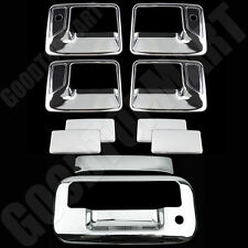 FOR FORD 08-16 F-250/350 SUPER DUTY Chrome 4DR Handle w/PSKH+Tailgate Cover KH