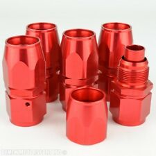 AN 10 Straight Host Fitting Red Forged (5 Pack) For Oil Cooler Hose Line