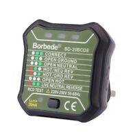Borbede Outlet Tester Presa Di Corrente Interruttore Automatico Di PolaritÀ Q3G7
