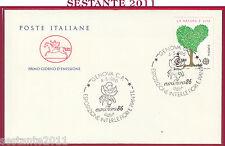 ITALIA FDC CAVALLINO FIORI PIANTE EUROFLORA 86 1986 EUROPA CEPT GENOVA Y415
