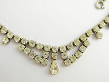 Vintage 1950s Art Deco Costume Necklace with Paste Setting  LAYBY AVAIL