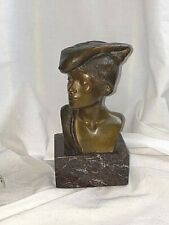 Chiurazzi Naples Bronze Achille D'Orsi Young Fisherman Bust on Marble Base