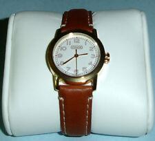 Coach Bleeker Ladies Watch Goldtone Case Brown Leather Strap Swiss 14500901 New