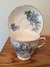 Royal Kent Blue Floral Tea Cup & Saucer 7527