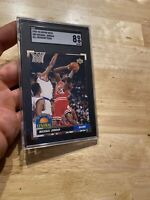 Michael Jordan SGC 8 Near Mint Upper Deck 1992 #AD9 INVEST AGAINST INFLATION NR