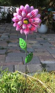 "Metal Garden Decor 22"" Sunflower Yard Art Pond Flower Lawn Ornament Stake Pick"