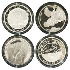 Australia 2015 Centenary of The Gallipoli Landing  4-Coin Pure Silver Proof Set
