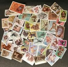 MONKEYS small selection of  used stamps/ see scan