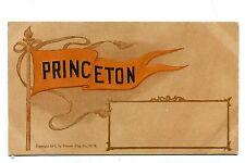 Vintage Postcard PRINCETON UNIVERSITY Pennant udb
