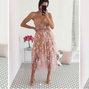 self portrait Inspired Pink floral embellished midi dress