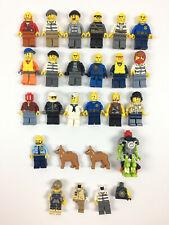 Lot 22 Mini Figurine Figure Minifigure / Lego Police Voleur Moto Bateau