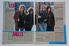 The Bangles Stranglers Always The Sun Hoffs clippings cuttings France