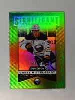 2018-19 UD Upper Deck Synergy Significant Selections Green Casey Mittelstadt 199