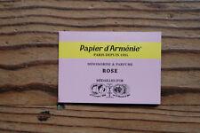 """Véritable Papier d'Arménie désodorisant naturel, carnet triple """"La Rose"""""""