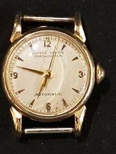 Vintage Ulysse Nardin Chronometer Co Automatic Women Watch 10k Gold Working