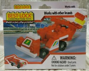 Best-Lock Construction Race Car Formula One Toy Play Set 36 Pieces RARE (BIN 23)