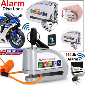 Alarm Motorbike Disc Lock Brake Scooter Motorcycle Cycle Bike Security Anti-Thef