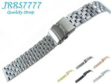 22mm Watch Bracelet Stainless Steel Titanium Brushed Super Engineer II 5 Row New