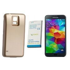 Extended thick Battery w Cover for Samsung Galaxy S5 i9600 Gloden 7800mAh