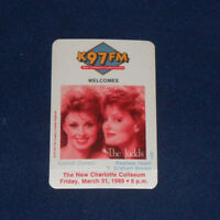 The Judds New Charlotte Coliseum March 1989 Unused OTTO Backstage Pass