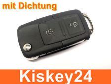 2Tasten Ersatz Klappschlüssel für VW Golf 4 IV Autoschlüssel Funkschlüssel