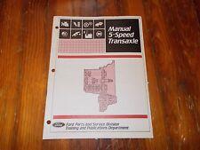 1983 - 1990 FORD ESCORT TEMPO TOPAZ 5SP TRANSAXLE DEALER TRAINING MANUAL BOOK