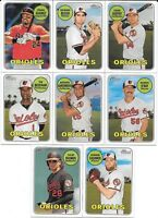 BALTIMORE ORIOLES 2018 Topps Heritage High Number BASE TEAM SET (8 Cards)