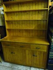 Large Country / Farmhouse Solid Pine Welsh Dresser with Rack