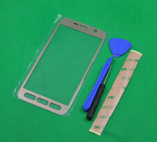 Gold Outer Screen Lens Glass Parts For Samsung Galaxy S7 Active AT&T G891A