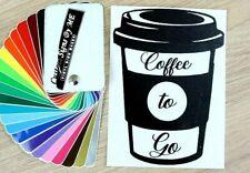 Coffee Takeaway Cup Sticker Wall Door Bar Pub Cafe Window Vinyl Decal Adhesive