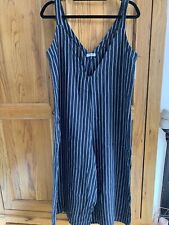 Linen Jumpsuit Blue And White Striped BNWT