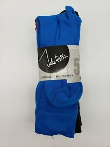 NEW 5 pair Men's Socks John Weitz Casual Collection Sock Sz 10-13 Shoe Sz 6-12.5