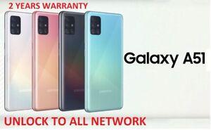New Samsung Galaxy A51 Dual Sim 128GB 4G LTE 6GB RAM Smartphone Black Blue White