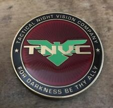 RARE TNVC Challenge Coin For Darkness Be Thy Ally Tactical Night Vision SEAL New